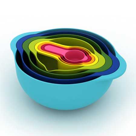Modern mixing bowls